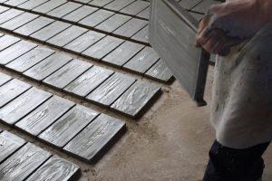 mattoni in fornace, prima della cottura, Cotto del Castello