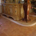 pavimento con più formati in cotto fatto a mano