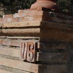 colonna esterna in cotto